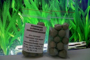 Твердые удобрения для подкормки аквариумных растений